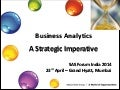 Business Analytics: A Strategic Imperative