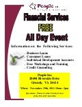 People Inc Financial Services FREE Information Event November 29th, 2011 10am - 2 pm
