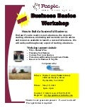 Business Basics Workshop Wytheville May 15,  2012 1-4pm
