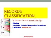 Business classification scheme (Taxonomy)