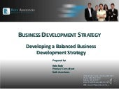 How to develop an effective Business Development Strategy