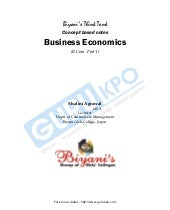 Business economics b com  part i