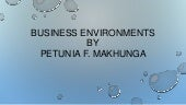 Business environments presentation