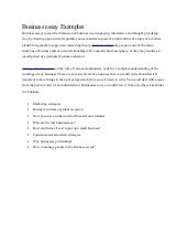 presentation essay examples
