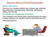 Business ethics and social responsi...