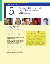 Business ethics and the legal envir...