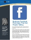 Business facebook post ideas that get people talking