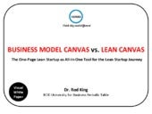 Business Model Canvas vs Lean Canvas vs One-Page Lean Startup