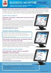 Business Monitor Online Brochure