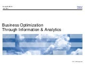 Business Optimization Thru Informat...