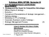 Business policy & strategic managem...