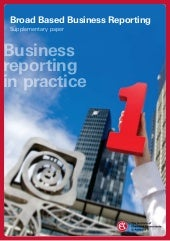 Business reporting in practice