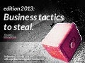 12+1 Business Tactics to Steal - edition 2013 - by @boardofinno