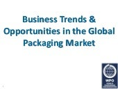 Business Trends and Opportunities in the Global Packaging Market 2015