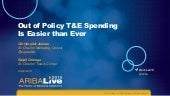 Out of Policy T&E Spending Is Easier than Ever