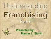 Understanding Franchising Part 1