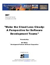Make the Cloud Less Cloudy: A Persp...