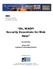 Oh, WASP! Security Essentials for W...