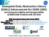 Geospatial Data Abstraction Library (GDAL) Enhancement for ESDIS (GEE)