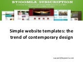 Simple website templates - Why? (By joomla.com)