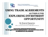 C. Ononaiwu - Using Trade Agreement...