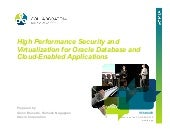High Performance Security and Virtu...