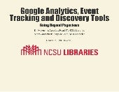 Google Analytics, Event Tracking & Discovery Tools
