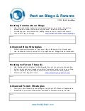 C52 blogs and forums worksheet
