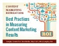 The Best Practices in Measuring Content Marketing - Survey Results