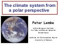 The climate system from a polar perspective