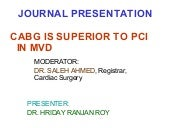 CABG is superior to DES (Stent) in ...