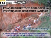 Atuação do Instituto Geológico na P...