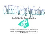 Cahsee writing applications    scaf...