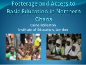 Fosterage and Access to Basic Educa...