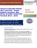 Calcium Carbonate Market is Expected to Reach USD 25.01 billion by 2019: Transparency Market Research