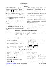 Calculus Cheat Sheet All