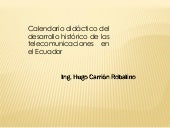 Calendario marco regulatorio hwcr