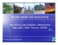 Basin Water Use Accounts