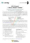 Call for Proposals Virtual Efficiency Congress 2012