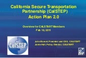 Calstep action plan 2 overview for ...