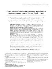 Acute Pesticide Poisoning Among Far...