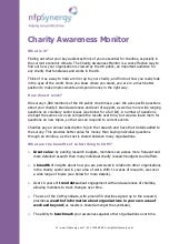 Charity Awareness Monitor