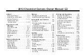 2012 Chevy Camaro Owners Manual Bal...