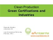 Clean Production - Green Certificat...