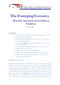 Emerging Economy March 2009 - Indicus Analytics