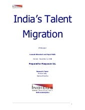 India's Talent Migration - An Indic...