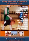 Camp di Basket ad ALICANTE Espagna 2013