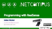Programming with RealSense using .NET