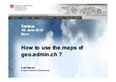 How to use the maps of geo.admin.ch...