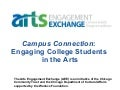 Campus Connection: Engaging College Students in the Arts Presentation Part 1